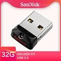 SanDisk Cruzer Fit USB Flash Drive 32GB CZ33 16GB 8GB mini Pen Drives 64GB USB 2.0 PenDrive Memory stick External Storage Device