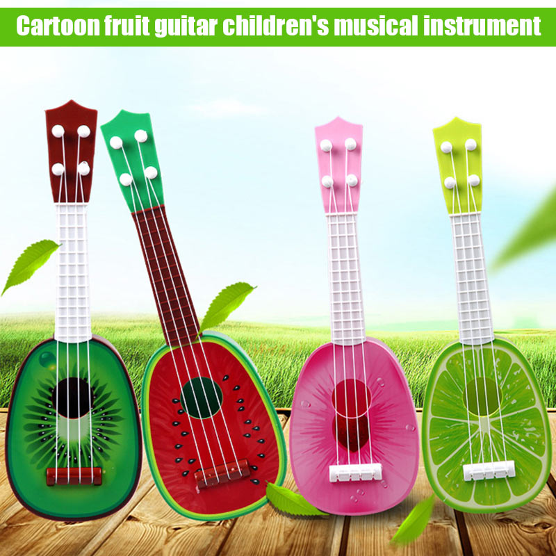 2018 New Children Kids Small Fruit Ukulele Guitar Musical Four Strings Instrument Educational Play Toy Gift 88