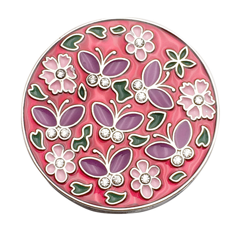 HOT GCZW-Cloisonne Butterfly Flower Folding Foldable Lady Girl Pothook Handbag Clip Hanger Hook Purse Table Hanger Holder