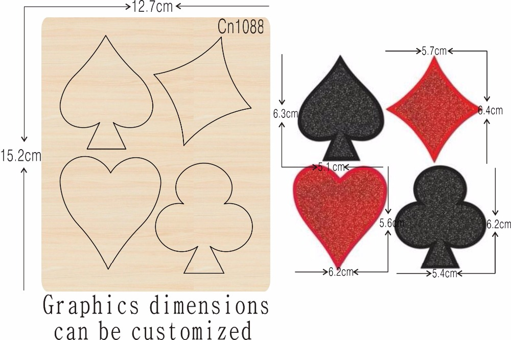 Heart shaped ornaments new wooden mould cutting dies for scrapbooking Thickness 15 8mm