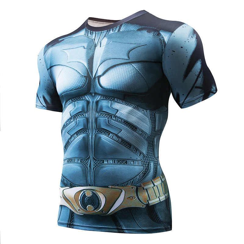 Black Panther Super 3D T Kemeja Lengan Pendek Kompresi Kemeja Pria Kebugaran Atasan Anime Tshirt Camiseta K Berlaku MMA