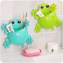 Держатель для зубных щеток для ванной комнаты с героями мультфильмов Gecko держатель для зубной пасты настенный крючок с присоской держатель зубной щетки