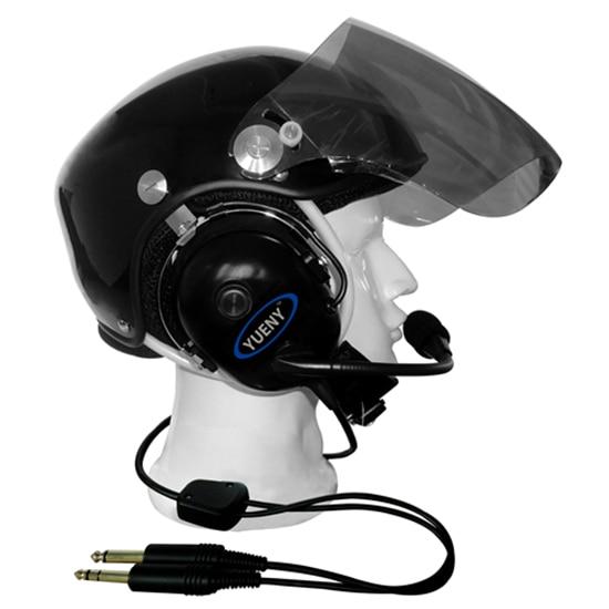 PNR aviation helmet with headset pilot helmets YUENY EN966 certificate YAHH 2000F