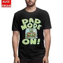 MenMan Dino Dad Mode On T-shirt Summer T-Shirt Round Collar BONADIAO Tee Shirt