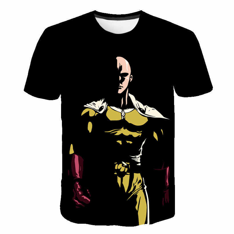 2019 Summer New Men Women T-Shirt 3D Print Cute Anime One Punch Man Sweatshirt Fashion Unisex Short Sleeve Top Pullover S-5XL