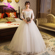 AIJINGYU 2018 real photos free shipping new hot selling cheap ball gown lace  up back formal bride dresses wedding dress WK544 8d78dd09e70a