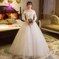 AIJINGYU 2018 real photos free shipping new hot selling cheap ball gown lace up back formal bride dresses wedding dress WK544
