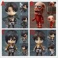 Attack on titan scouting legión levi rivaille nendoroid acción pvc figure model collection toy