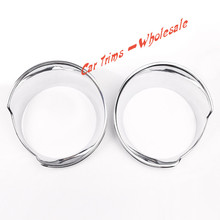 ABS Chrome Front Headlight Lamp Cover Trim 2Pcs  for  Jeep Renegade 2015 2016