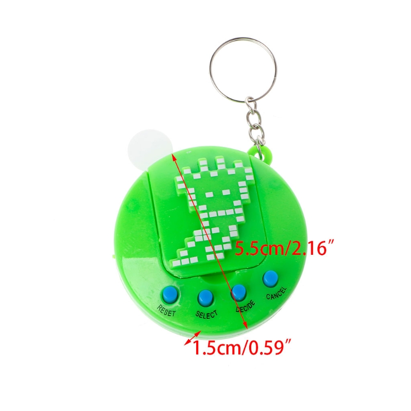 1PC LCD Virtual Digital Pet Electronic Game Machine Retro Funny Toy With Keychain in Handheld Game Players from Consumer Electronics