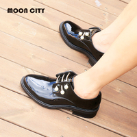 Women's shoes Oxford Shoes Woman loafers moccasins Lady Patent leather shoes Female Ankle Casual Shoes New pearl formal Footwear