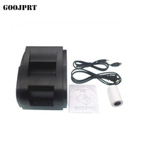 Free Shopping High Speed Black USB Port 58mm Thermal Receipt Pirnter POS Printer Low Noise Mini