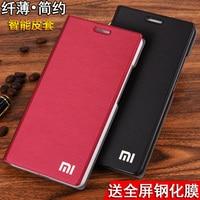 Original Brand For Xiaomi Redmi Note4 Case Flip Leather Cover Bags Hongmi Red Rice Note 4
