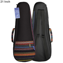 IRIN 21 Inch Folk Style Knitted Ukulele Backpack Small Guitar Hand Portable Bag Soft Pad Cotton Thickening Case Cover 21 23 ukulele backpack portable soft pad cotton thickening folk style ukelele case cover