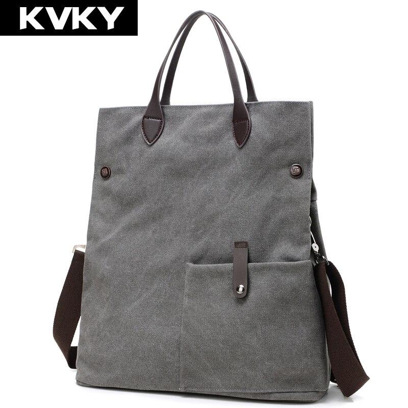 Kvky nuevas mujeres de la moda bolso de la lona de la vendimia del hombro bolsas de playa casual para mujeres bolsas de mano de señora bolsos de compras grandes bolsas feminina