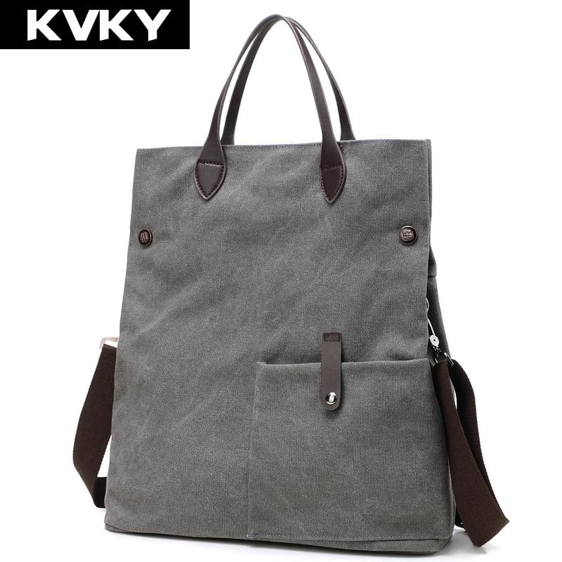 Kvky nuevas mujeres de la moda bolso de la lona de la vendimia del hombro bolsas
