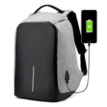 Réfléchissant étanche voyager randonnée multifonction anti vol sac à dos USB chargeur sacs à dos ordinateur portable sac