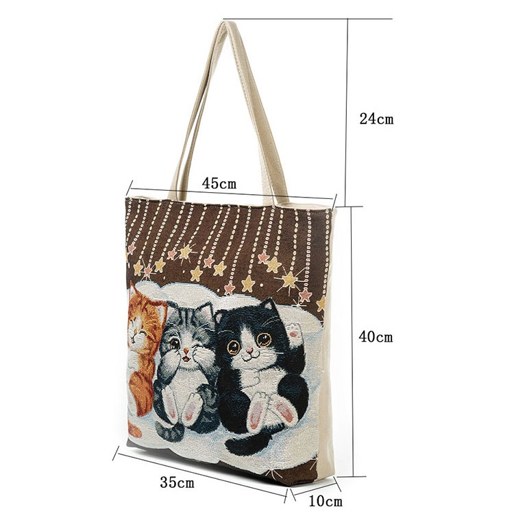 HTB1aK29QFXXXXbHXFXXq6xXFXXXu - Women's Beach Cats Embroidered Handbag