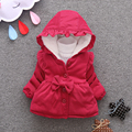 New Year Christmas Baby Girl Clothes Children Clothing Cute Bow Hooded Thick Jacket Kids Snowsuit Baby Girls Winter Coat Infant