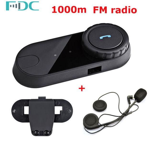 Free Shipping Brand FDC 800m Motorcycle Bluetooth Headset Intercom FM+Free 1 Clip+1 Earpiece