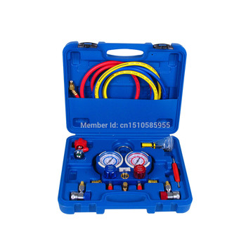 Automotive air conditioning High Quality Refrigerant pressure gauge for R134a R22 R404 R12 refrigerant,Manifold gauge set