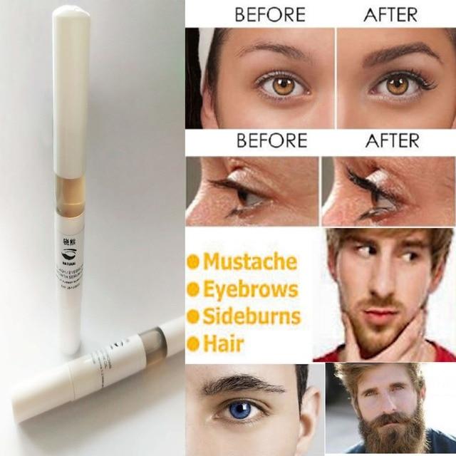 7926a91b050 Best Seller Natural Beard growth Stimulator Serum Eyelash Eyebrow Grow  Longer Thicker+ Free Shipping
