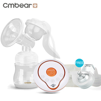 cmbear New Large Suction Electric Manual Breast Pump Baby Feeding feedkid infantil USB Electric breast pump with milk bottle
