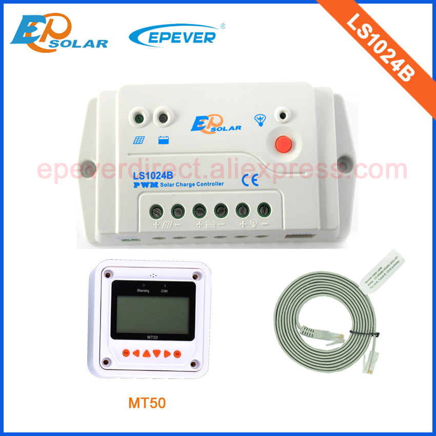 PWM LS1024B 10A 10amp 12v 24v auto work mini solar panel controller with MT50 remote meter free shipping with wifi function use epsolar pwm ls1024b 10a 10amp solar controller temperature senor 12v 24v auto work