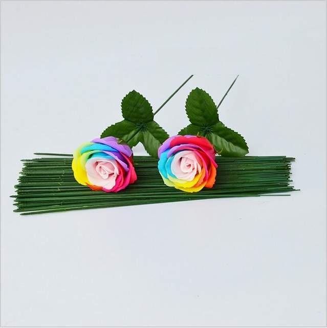 K15298 Simulation Tige De Fleur Artificielle Avec Laisser Rose à Faire Soi Même Savon Fleur Artisanat Décoration De Mariage Saint Valentin Cadeau