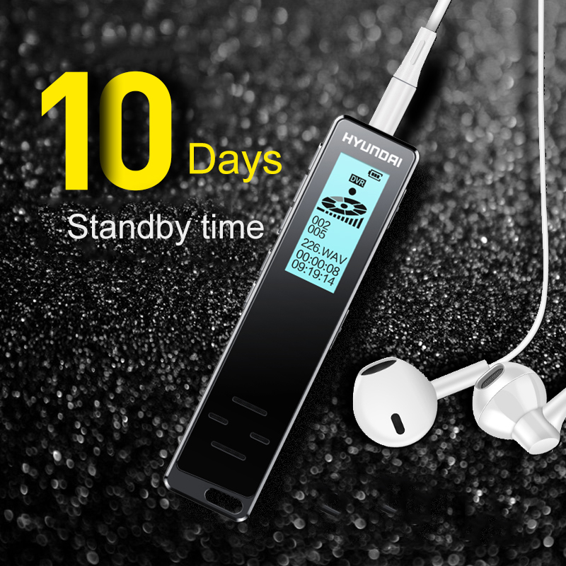 Yescool HY-K608 Professional Digital Voice Recorder Smart Voice Activated Long Distance Recording HD Noies Reduction Dictaphone