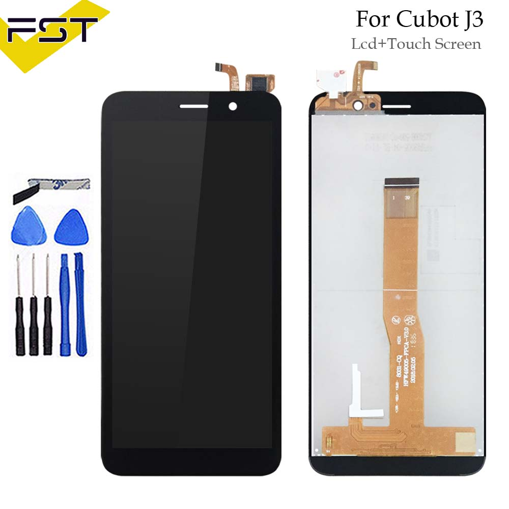 5.0Black For Cubot J3 LCD Display with Touch Screen Digitizer Assembly For Cubot J3 Mobile Phone Accessories5.0Black For Cubot J3 LCD Display with Touch Screen Digitizer Assembly For Cubot J3 Mobile Phone Accessories