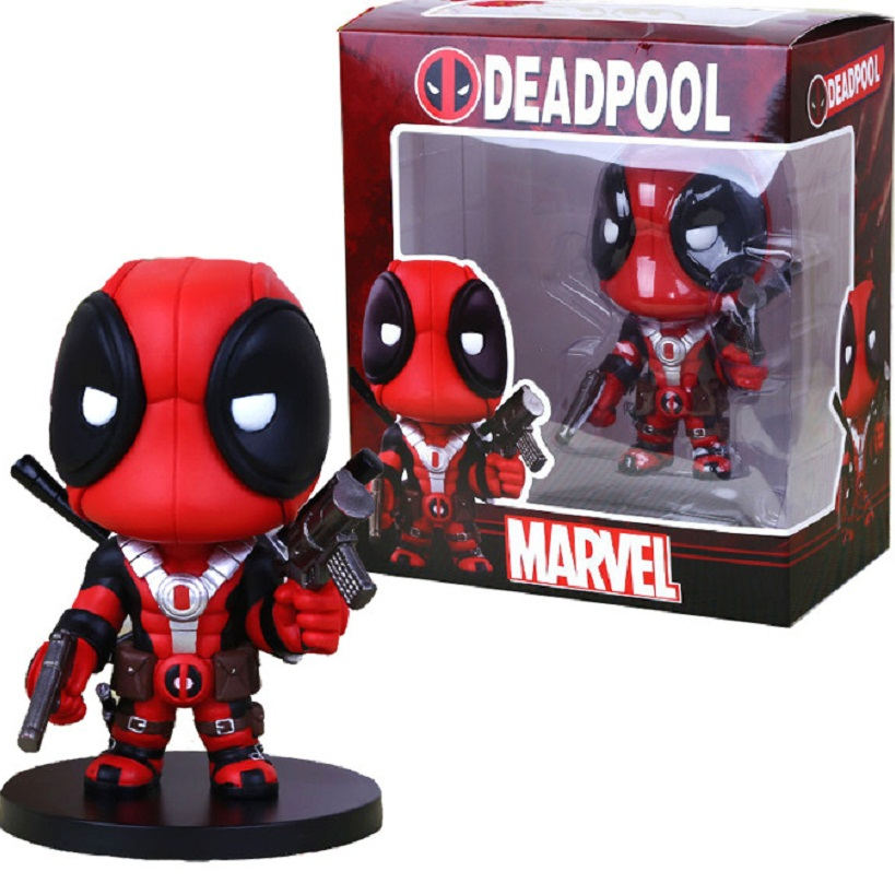 где купить 2017 New Arrival Deadpool Figures X-Men Anime Q Version PVC Deadpool Model Toys For Children Gifts Original Box по лучшей цене