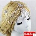 Apressado 2016 Hot Sale Ornamentação Headdressrhinestone India Frontlet Bridal Jóias Acessórios para o Cabelo de Noiva Do Casamento Do Vintage
