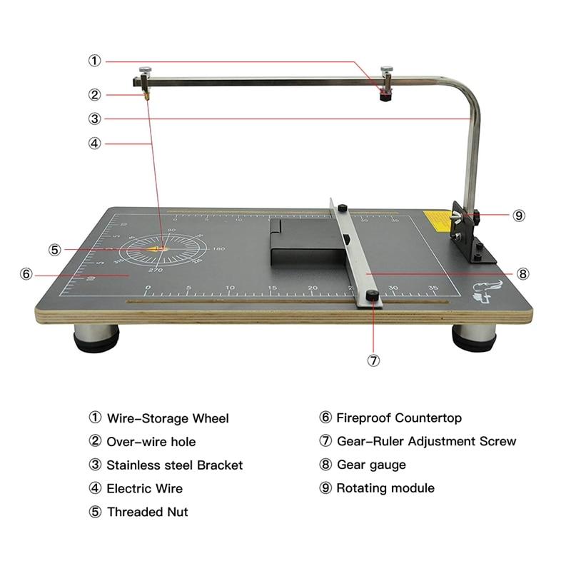 110V/220V Hot Wire Foam Cutting Machine Heating Tools Table Styrofoam  Cutter Foam Cutter Working Stand 38*58cm