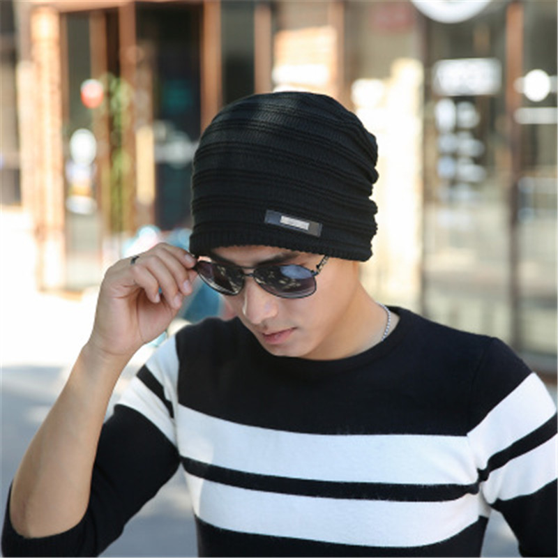 Fashion MEOW Cap Men Casual Hip-Hop Hats Knitted Wool Skullies Beanie Hat Warm Winter Hat for Women Drop Shipping SW43 2016 New knitted skullies cap the new winter all match thickened wool hat knitted cap children cap mz081