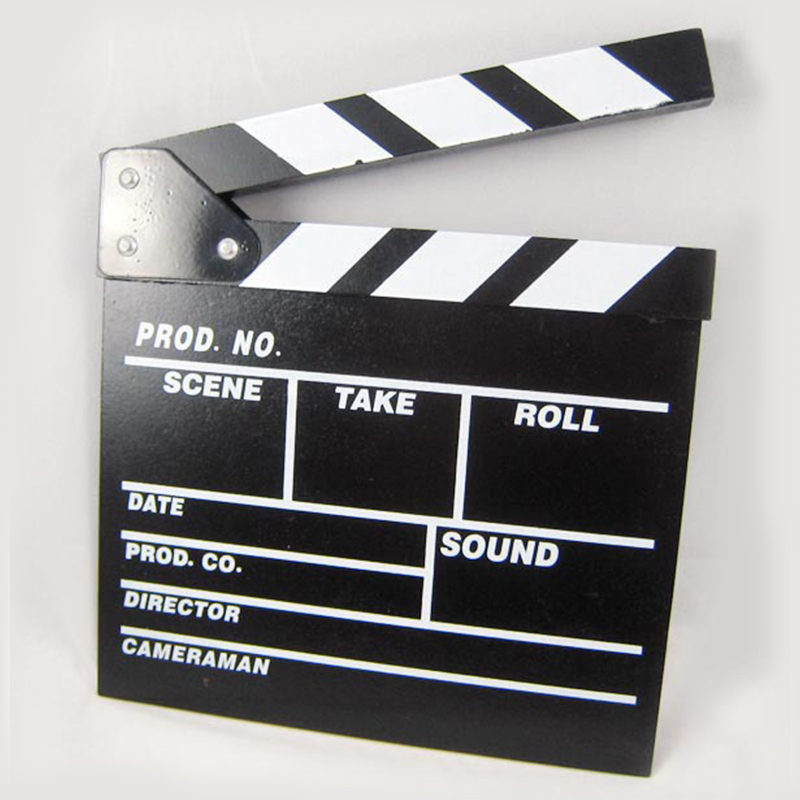 New Director Video Scene Ciac Clapper Board Acrylic Dry Erase TV Director Movie Movie Action Slate Clap Handmade Cut Prop