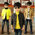 Free shipping Autumn pure color the boy on the new winter jacket coat single-breasted jacket