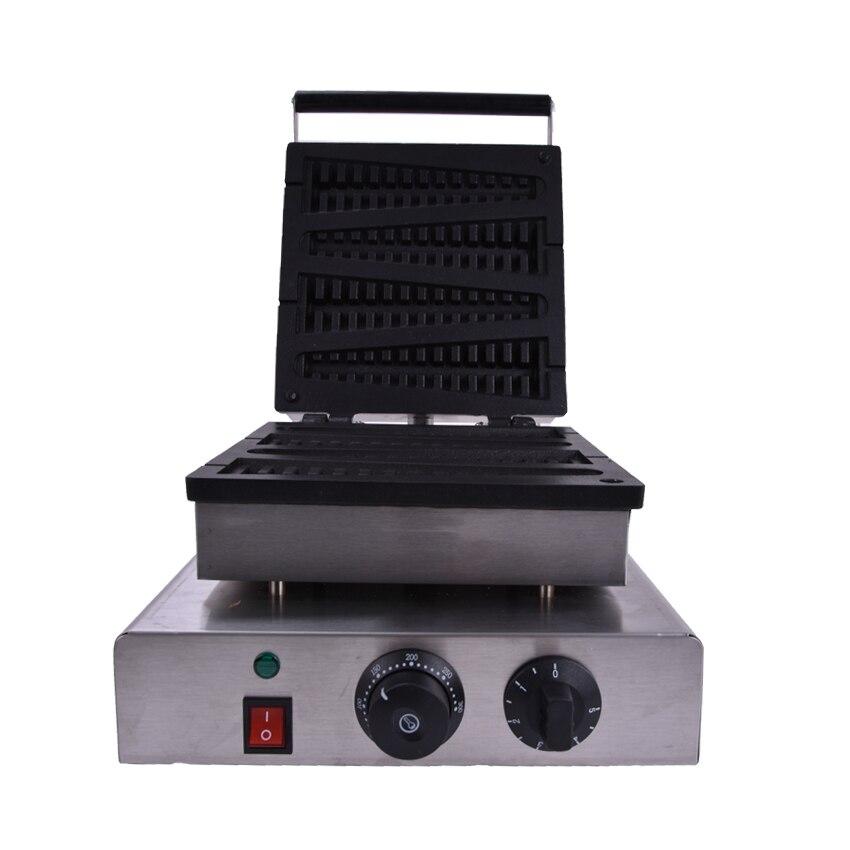 1 шт. 220 В Электрический из нержавеющей стали коммерческих домашнего использования рыбы lolly вафель машина кухонная техника