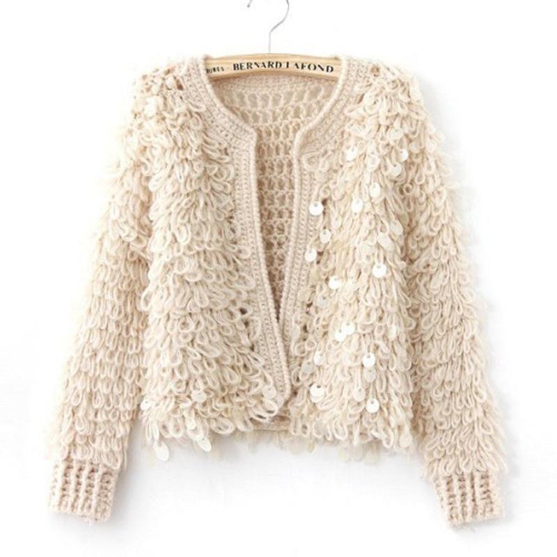 sueter ganchillo rebecas mujer furry fleece chaquetas de