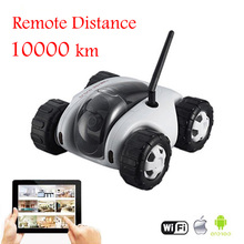 App Controlled Wireless Wifi Controlled Spy Tank Cloud Rover Remote Control Robot with Camera RC Monitoring Car Toys iOS Android(China)