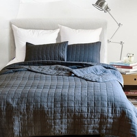 Famvotar Solid Color Square Patterned Quilted Coverlet Set Lightweight 3 Piece Quilted Bedspread Ultra Soft Summer Bedspreads