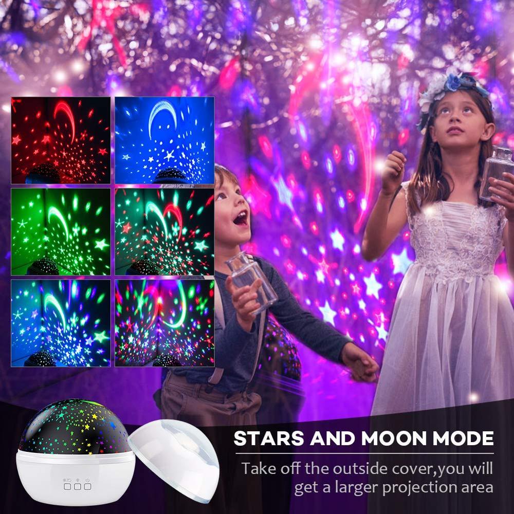 Image 3 - BOAZ Ocean Starry Sky Rotating Projector Night Light 8 Colors Mode LED Laser Night Lights Gift for Kids Children living/Bedroom-in LED Night Lights from Lights & Lighting