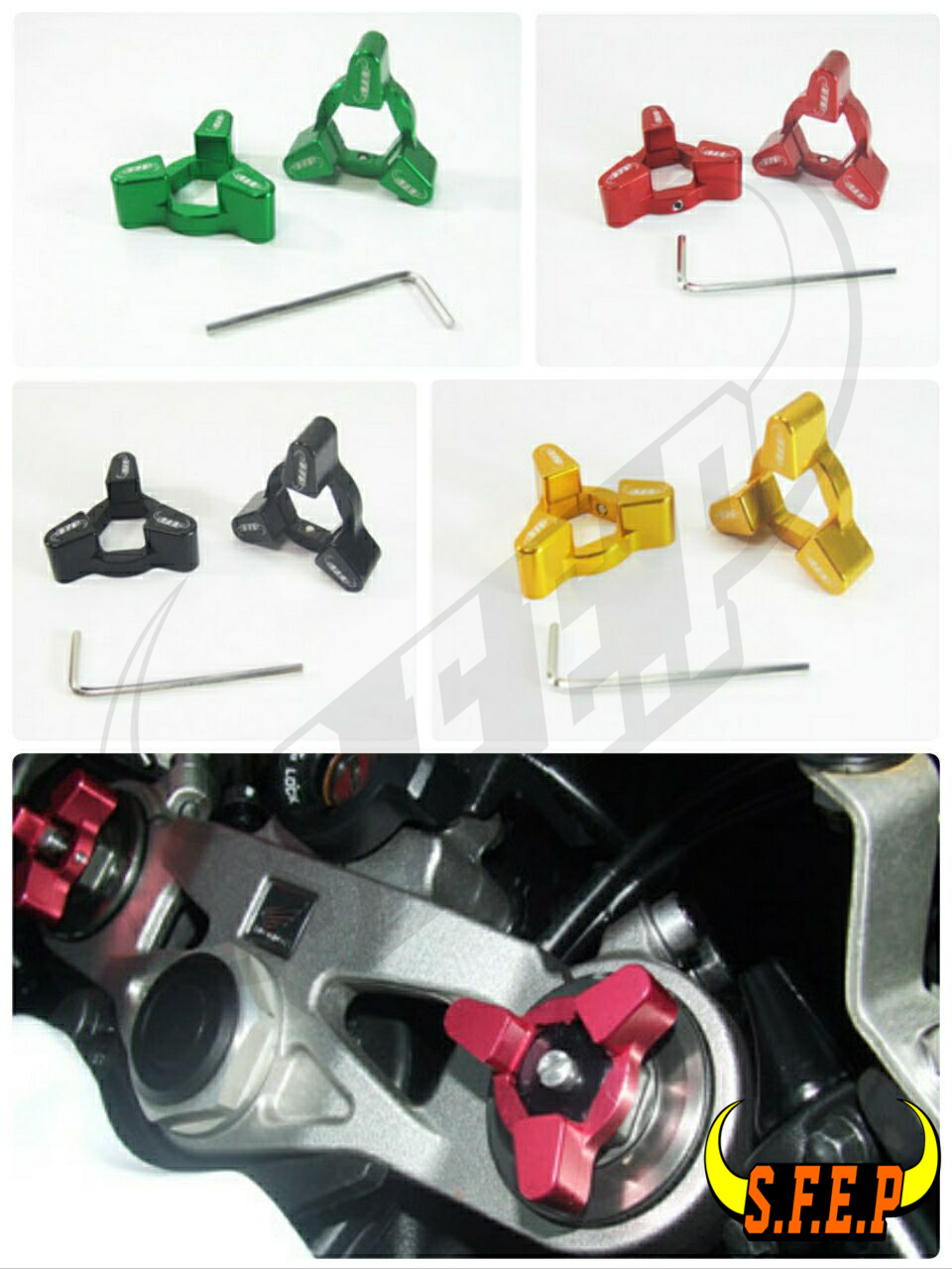 Motorcycle CNC Fork Preload Adjusters For Honda CBR 600 F2,F3,F4, F4i 87-07/ CBR 900RR 93-99/ CBR 600RR 03-04/ VTR1000F 98-05