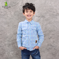 KAMIWA 2015 New Spring And Autunm Boys Shirt Long Sleeve Shirt Cotton Casual