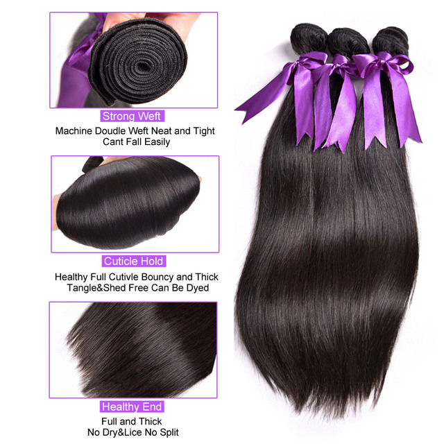 100% Human Hair Extension Peruvian Straight Hair Extension