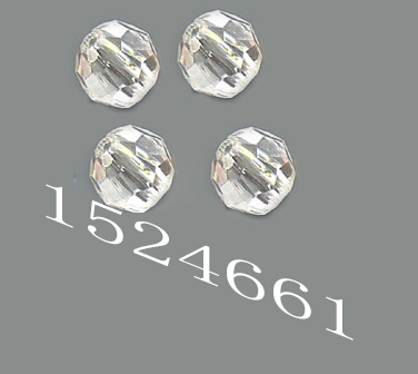 FLTMRH 20mm 2pc Acrylic Faceted Beads Transparent Round