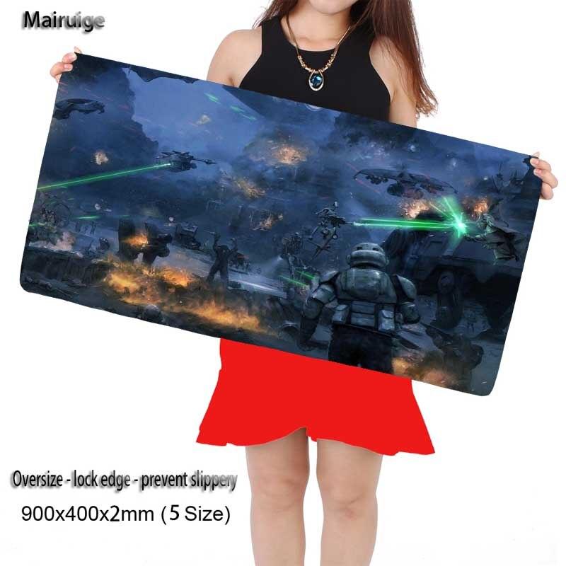 Mairuige Бесплатная доставка Star Wars Battlefront 300x900 мм длительных игровых широкий большой Мышь площадку большой Размеры стол Коврики высокое качеств...