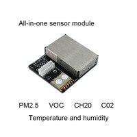 Módulo de Sensor de aire multi-in-one S6 (PM2.5/PM10/CO2/tcov/temperatura y humedad/CH2O)
