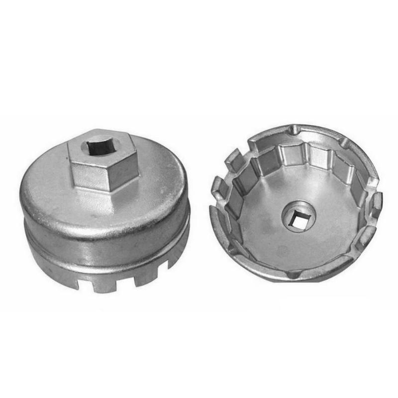 64.5mm Aluminium Universal 14 Flutes Cap Oil Filter Wrench Housing Tool Remover For Toyota 4 Cylinder 1800CC-2000CC For Corolla