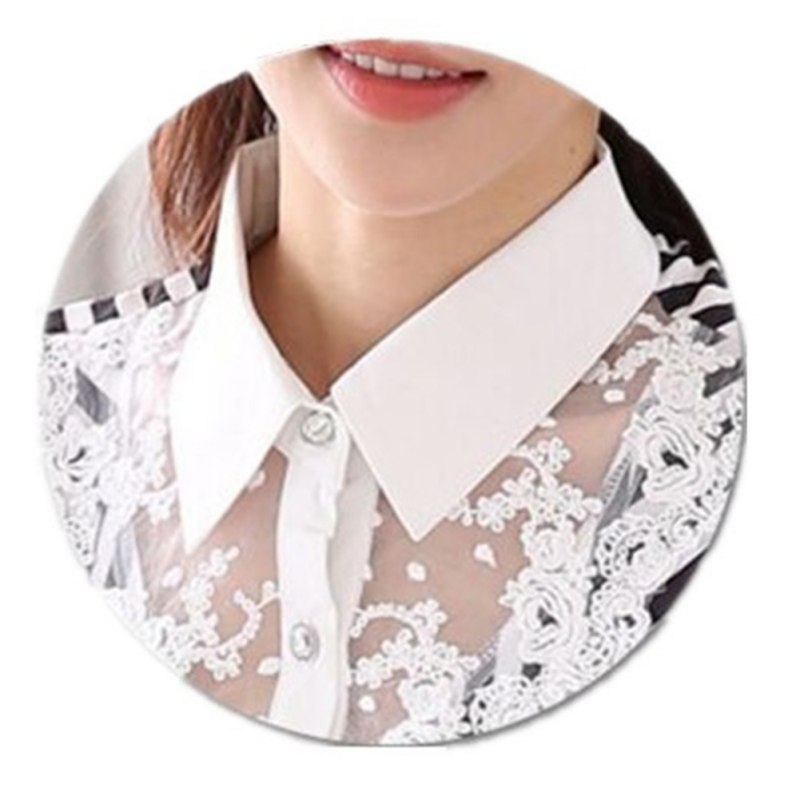 HTB1aK4NaPzuK1Rjy0Fpq6yEpFXah - Women Blouse Long Sleeve Lace Tops Striped Turn-Down Collar Blouses Official Female Formal Shirt Spring Autumn